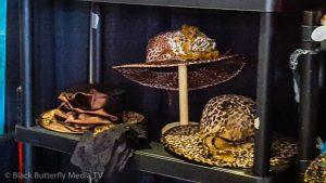 Animal printed ladies hats.