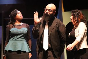 Mike Vandervedee intervenes in argument between his wife Vanessa and mistress Peggy Sue.