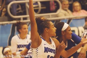 Memphis Cheyenne Creighton guarded by TSU Taylor Roberts