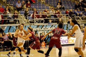 Cheyenne Creighton gets double-teamed