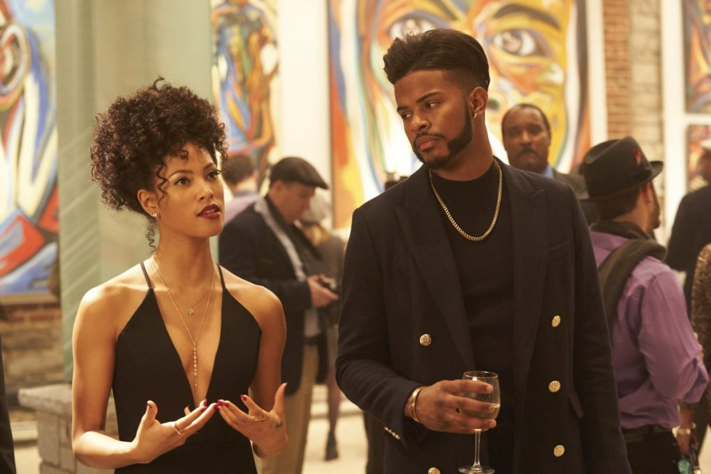 Lex Scott Davis (Georgia) and Trevor Jackson (Priest) in SuperFly (2018)