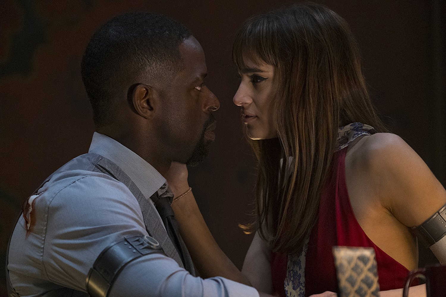 Sterling K. Brown and Sofia Boutella