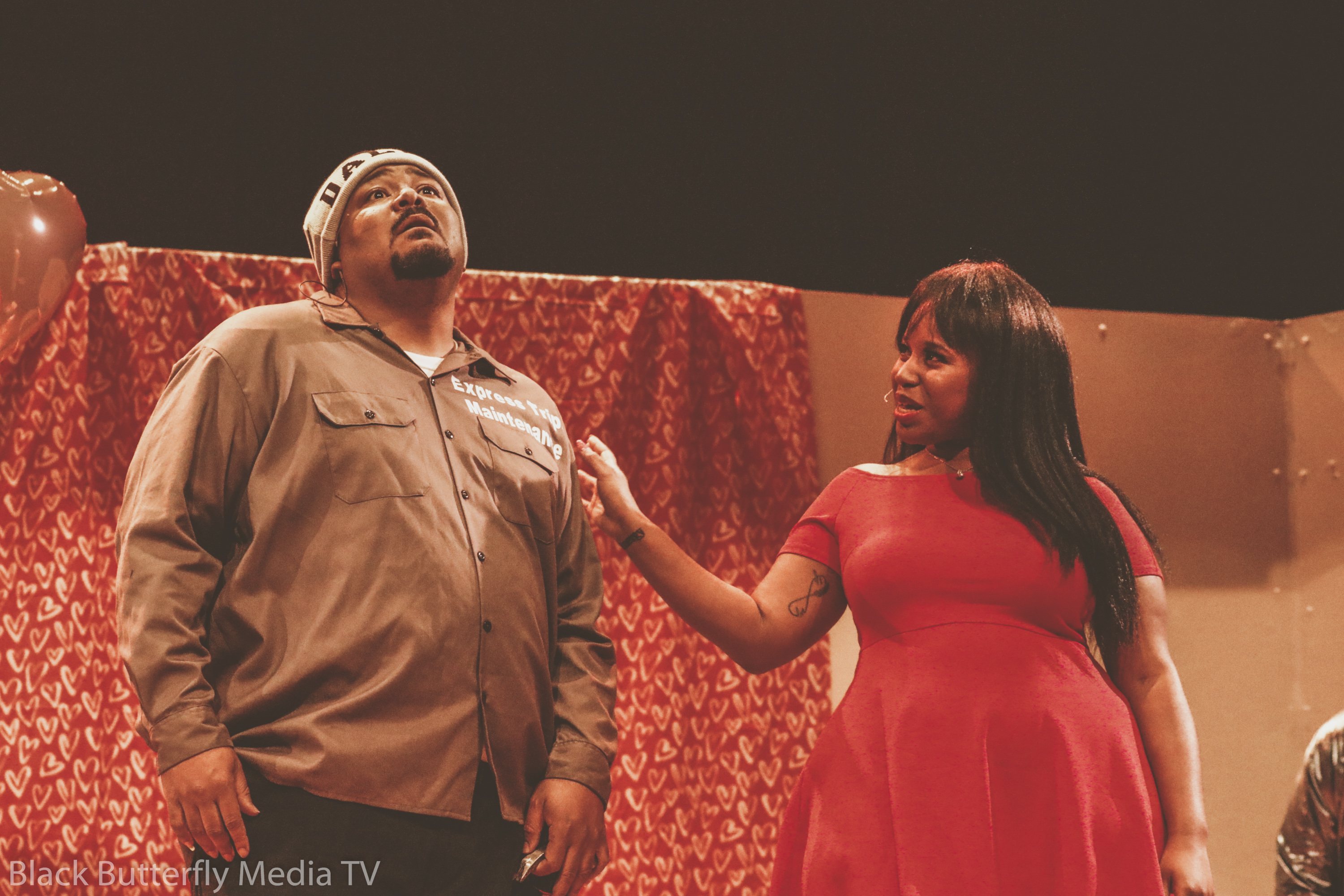 "Steve Brown and Patria Walker in ""The Work Husband"""