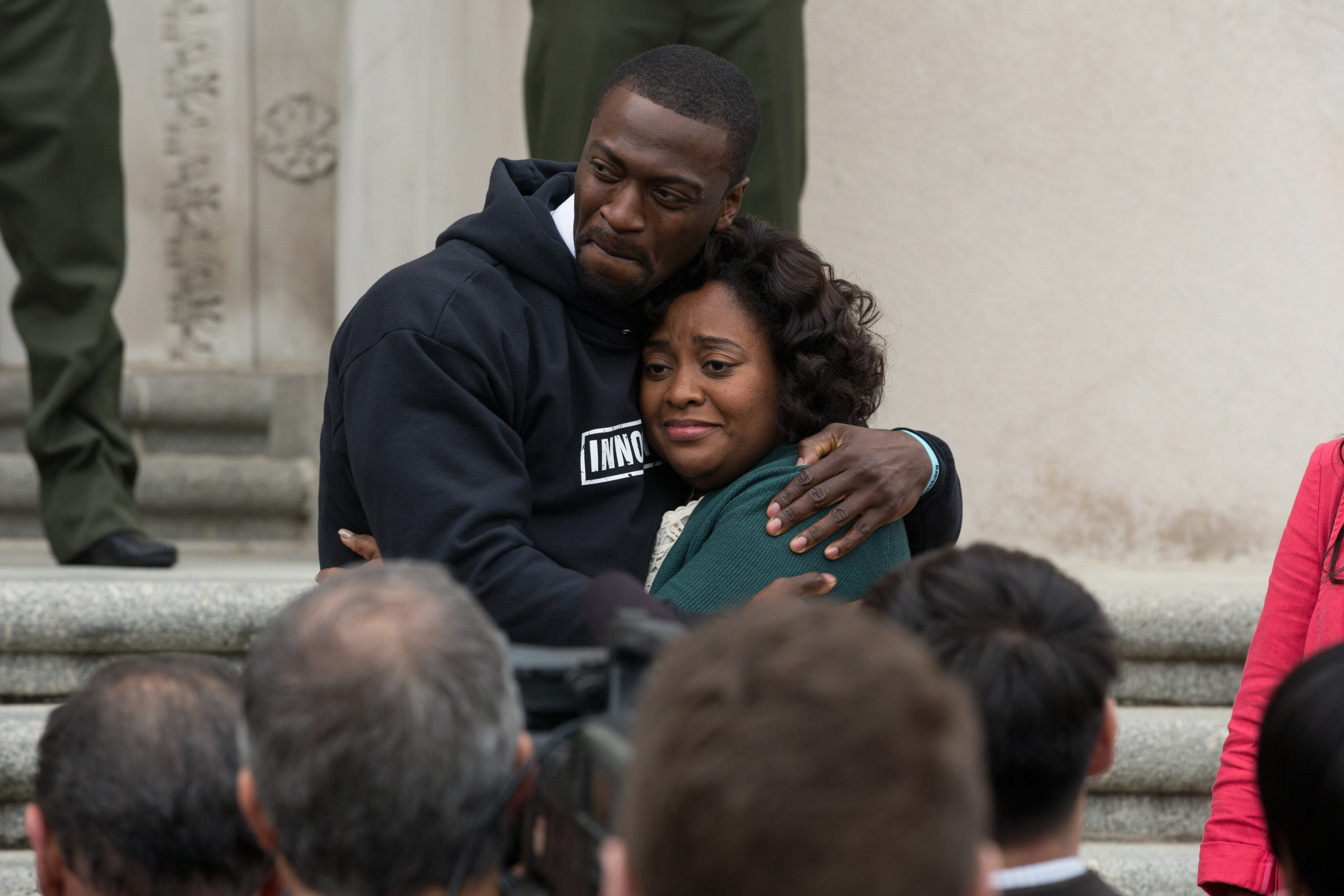 "Aldis Hodge and Sherri Shepherd in ""Brian Banks"""