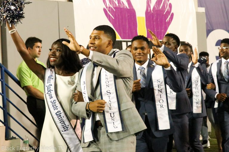 Jackson State University royal homecoming court at 30th Southern Heritage Classic