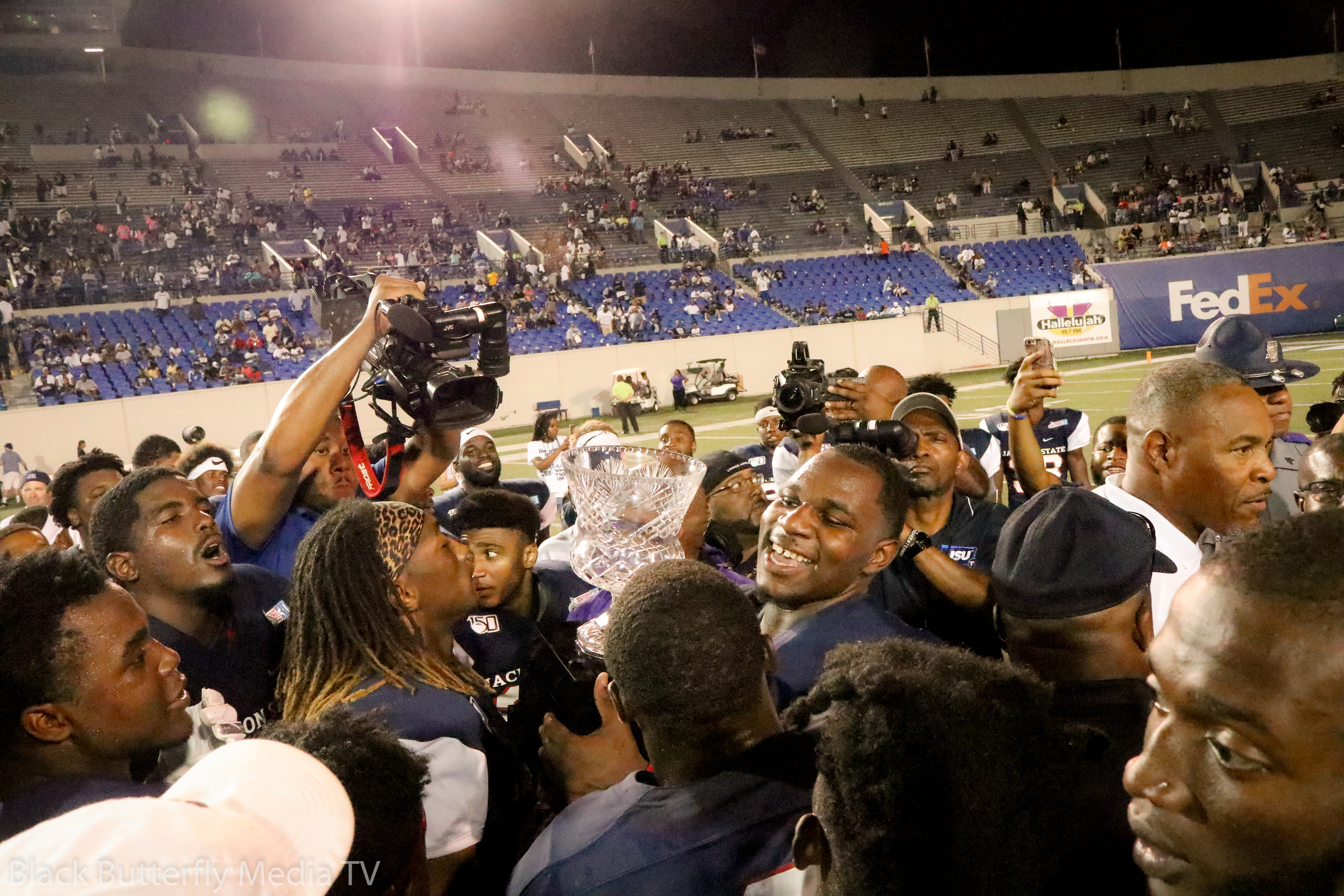 Jackson State University football team excited about Southern Heritage Classic win against Tennessee State University