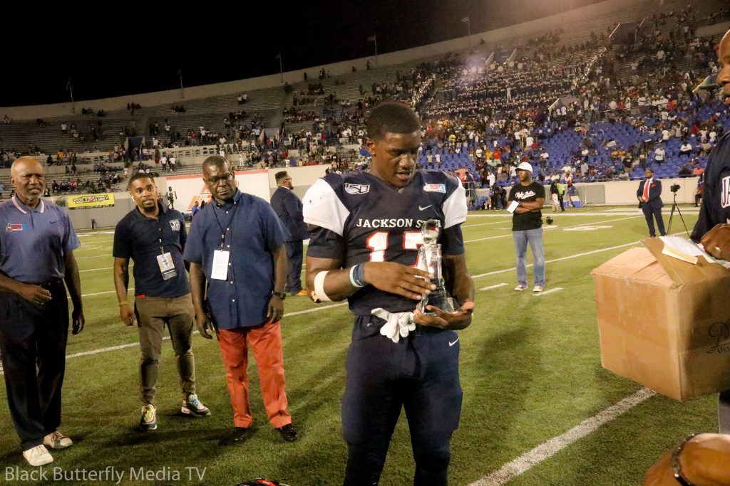 JSU Running Back Jordan Johnson received MVP Award
