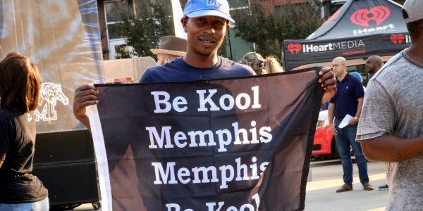 Memphis fan at Memphis Madness