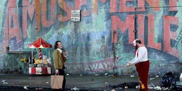 Joaquin Phoenix and Glenn Fleshler in Joker (2019). Warner Bros. Pictures