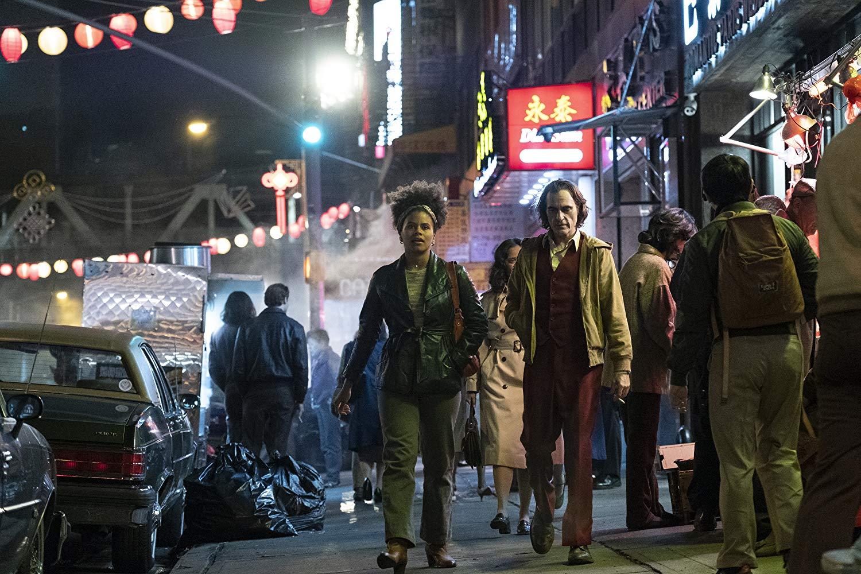 Joaquin Phoenix and Zazie Beetz in Joker (2019). Photo – Warner Bros. Pictures