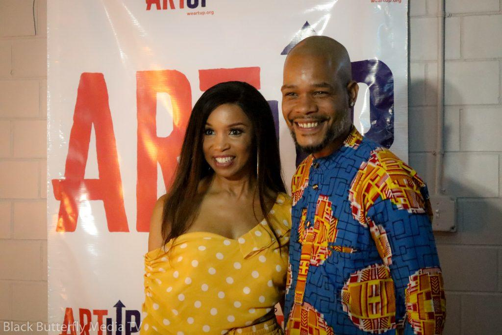 Elise Neal and ArtUp Fellow Elijah Townsend