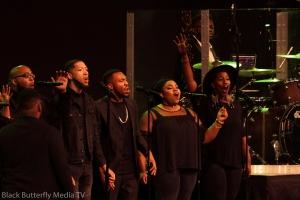 A Worship Christmas Choir singers.