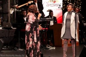 Tracy Bethea and Le'Andria Johnson at A Worship Christmas