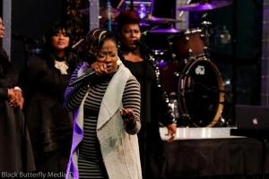 Le'Andria Johnson at A Worship Christmas.